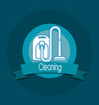 cleaning emblem design vector image vector image