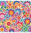 Colorful floral pattern Seamless background vector image vector image