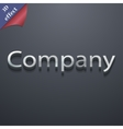 company icon symbol 3D style Trendy modern design vector image
