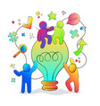 creative new idea concept with colorful people vector image