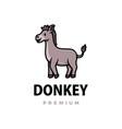 cute donkey cartoon logo icon vector image vector image