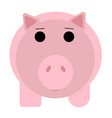 cute funny pig isolated on white background flat vector image vector image