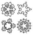 Decorative Floral Ornament8 vector image vector image