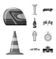 design car and rally logo set car vector image vector image
