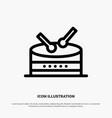 drum celebration line icon vector image vector image