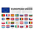 european union eu and membership flag vector image