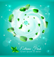 extreme fresh swirl composition vector image