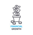 financial growth concept outline icon linear vector image vector image