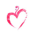 flamingo in heart shape isolated on white vector image vector image