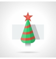 Flat color New Year tree icon vector image vector image
