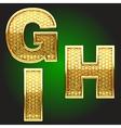golden figure set vector image