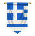 greek pennant vector image