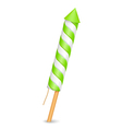 Green Firework Rocket vector image