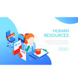 human resources - modern colorful isometric web vector image
