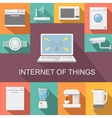 internet things computer remote control flat vector image vector image