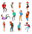 laughing people set vector image vector image