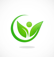 leaf people nature ecology logo vector image vector image