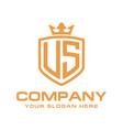 letter us initial logo luxury logo design vector image vector image
