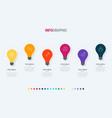 light bulbs infographic template 6 options