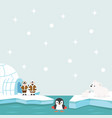 north pole arctic in the ocean background vector image vector image