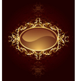 oval jewelry banner vector image vector image