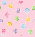 pastel diamond seamless pattern with pink vector image vector image