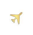 Plane computer symbol vector image