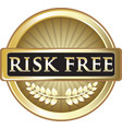 risk free gold icon vector image vector image