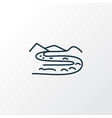 river icon line symbol premium quality isolated vector image