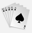 royal straight flush playing cards poker hand vector image vector image