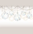seamless abstract background with christmas balls vector image vector image