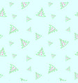 seamless pattern of hand drawn christmas trees vector image vector image
