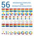 set infographic templates for informations vector image