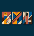 set retro bauhaus geometric covers use vector image