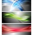 Shiny wavy banners vector image vector image
