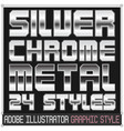 silver and chrome metal graphic styles vector image vector image
