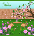 spring is coming backgrounds romantic vector image vector image