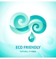 turquoise water symbol vector image vector image