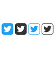 twitter icons set logo social network twitter vector image vector image