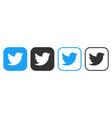 twitter icons set logo social network vector image vector image