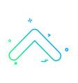 up arrow icon design vector image vector image