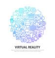 virtual reality circle concept vector image vector image