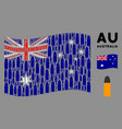 waving australia flag pattern ammo bullet icons vector image vector image