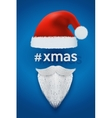 Xmas Background of Santa with space for text vector image vector image