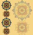 Yellow pattern with mandalas vector image vector image