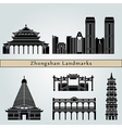 Zhongshan landmarks and monuments vector image vector image