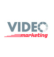 logo lettering Video Marketing vector image