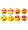 love collection of beauty smilies vector image