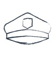 monochrome blurred silhouette of police cap vector image