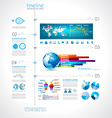 Timeline to display your data with Infographic vector image